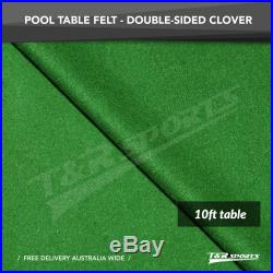 Clover Double-sided Wool Pool Snooker Table Top Cloth Felt for 10'' UK