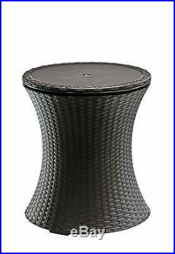 Cool Bar Rattan Style Outdoor Patio Pool Cooler Table
