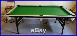DELUXE 7 ft FOLDAWAY POOL TABLE With Accessories
