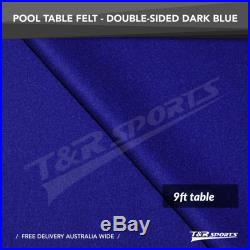 Dark Blue Double-sided Wool Pool Snooker Table Top Cloth Felt for 9'' UK