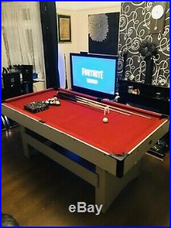 Debut 6ftx3ft Pool Table With Ball Return & All Accessories Excellent Condition