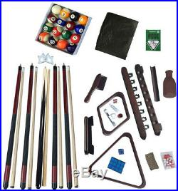 Deluxe Billiards Accessory Kit With Mahogany Finish Pool Table Accessories Outdoor