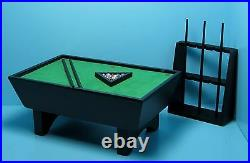 Dollhouse Miniature Wood Pool Table in Black with Complete Accessories CLA91322