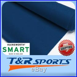 English Hainsworth Pool Table Cloth Billiards Felt Full Kit for 9 Navy UK