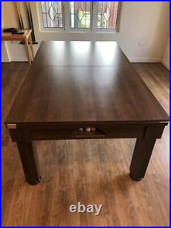 Excellent Condition 7ft DPT Pool Dining Table With a Variety of Accessories