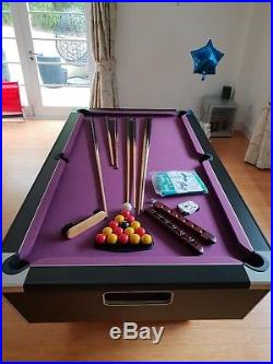 FULL SIZED 7ft POOL TABLE slate bed + ACCESSORIES, great condition