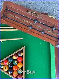 Fantastic Vintage Table Top Snooker Table / Pool Table With All Accessories