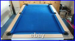 Foldable pool table slate based in perfect condition with accessories included