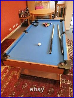 Folding BCE pool table, 6ft with all accessories, excellent condition