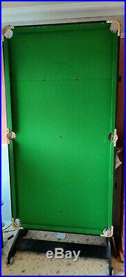 Folding Snooker / Pool Table 6ft x 3ft. Good condition, BCE, incl. Accessories