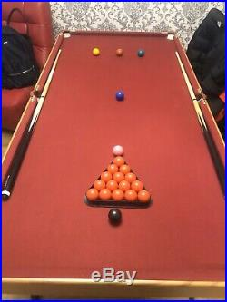 Folding Snooker / Pool Table 6ft x 3ft. Good condition, incl. Accessories