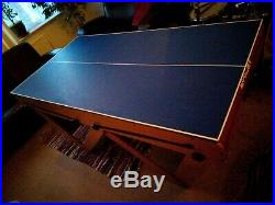 Folding billard pool and tennis table 6ft with accessories