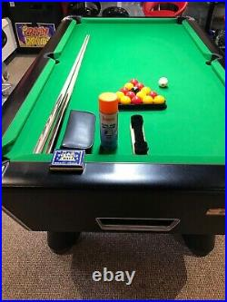 Full Size Supreme Pool Table With Lights and Accessories