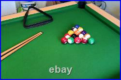 Full size pool table including all accessories including lights
