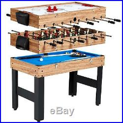 Game Table 48 3 In 1 Combo Pool, Hockey & Foosball Accessories Included
