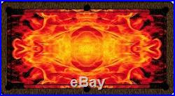 HALF PRICE ARTSCAPE SPEED POOL TABLE CLOTH FIRE FLAME ART SCAPE 6ft or 7ft