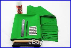 Hainsworth CLUB RECOVER KIT Bed & Cushion Set for 7ft UK Pool Table GREEN/OLIVE