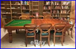 Hamilton dining pool / snooker table chairs and accessories. Modern clean style