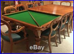 Hamilton modern style dining pool / snooker table chairs and accessories