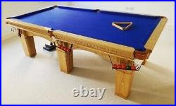 Hand Made Solid Oak 8x4 Snooker Pool Table & Accessories