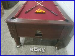 Hgm Imperial Slate Bed Pool Table 7x4 With Burgandy Speed Cloth