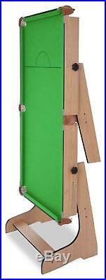 Hy-Pro 6Ft Folding Snooker And Pool Table Playing Fun With Balls Accessories UK