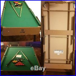 Hy-Pro 6ft Folding Snooker and Pool Table With all Accessories
