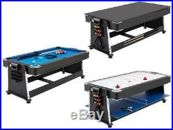 Inc accessories pool table 3 in 1 table tennis air hockey board 7ft new in box