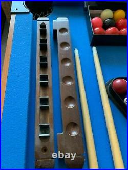 Junior Snooker/Pool Table including accessories. 138x69cm, folding table