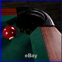 Lancaster 90 Inch Traditional Full Size Billiard Pool Table Set with Accessories