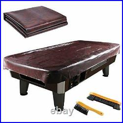 Leather Pool Table Cover Billiards Pool Table Accessories Set, Premium 7Ft