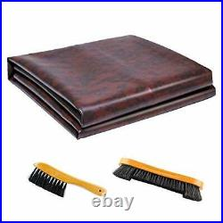 Leather Pool Table Cover Billiards Pool Table Accessories Set, Premium 9Ft