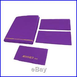 M00RI500 Quaity Smooth Durable Woolen Snooker Pool Table Cloth 9ft Purple