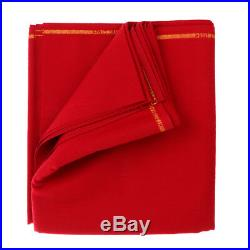 M00RI500 Wool Snooker Pool Billiards Table Cloth Felt for 9ft Table Red