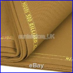 M00RI500 Worsted Pool Table Cloth for 9ft Table High Speed Camel