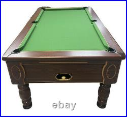 Mahogany 6ft Slate Bed Pool Table With Wooden Top Cover Comes With Accessories