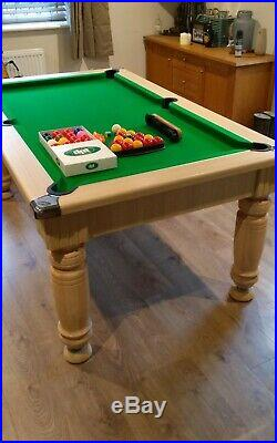 Majestic Pool table Dining Table 6ft Slate Bed with benches snooker accessories