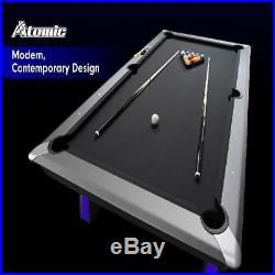 Modern Game Room 7.5' Indiglo Blue LED Lighted Pool Table Billiard withAccessories