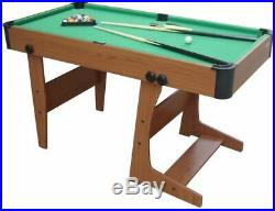 New Eton Foldable L Foot Modern Pool Table with Accessories Home Games Table