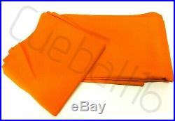 ORANGE HIGH QUALITY 6x3 NYLON Bed & Cushion CLOTH For POOL TABLE Recovering
