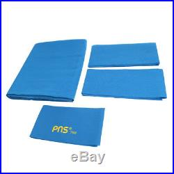 PNS760 Snooker Pool Table Cloth & 6 Felt Strips for 9ft Table Blue
