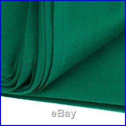 PNS760 Snooker Pool Table Cloth & 6 Felt Strips for 9ft Table Green