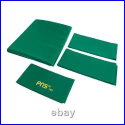PNS760 Wool Pool Table Cloth Felt & Cushion Strips for 9ft Table Green