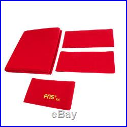 PNS900 Worsted Wool Snooker Pool Billiard Table Cloth 9ft Table Red