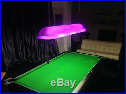 POOL TABLE CANOPY/SHADES COLOURED PERSPEX UNIQUE CONTEMPORARY 150cm