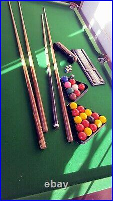 POT BLACK 6ft x 3ft SNOOKER / POOL TABLE with Balls + Accessories