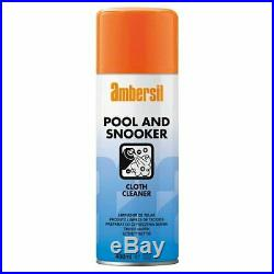 Pack of 12 Ambersil Pool & Snooker Baize Cloth Cleaner 400ml Billiards 31638