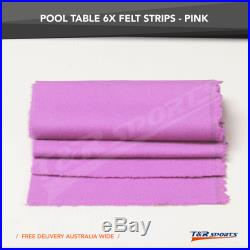 Pink Double-sided Wool Pool Snooker Table Top Cloth Felt + 6X Strips for 10'' UK