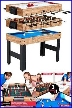 Pool Combo 3In1 Multi Games Hockey Foosball Game Table Accessories Included USA