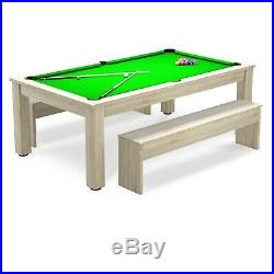 Pool Dining Table 9FT Radley Verso Billiard Table and Benches Free Accessories